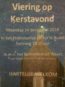 2018-12-24 Kerstavonddienst in Budel