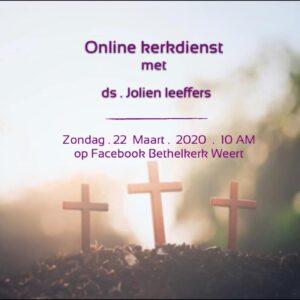 2020-03-22 Online kerkdienst vanwege coronavirus