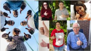 Afbeelding met persoon, foto, groep, poseren Automatisch gegenereerde beschrijving