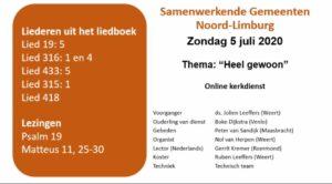 2020-07-05 Online kerkdienst in de Bethelkerk