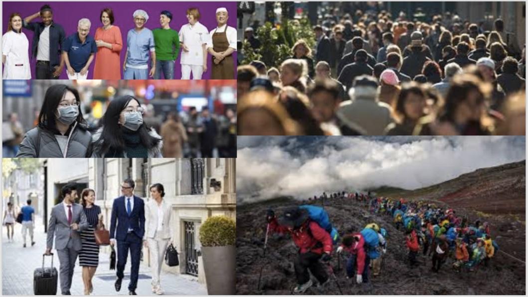 Afbeelding met persoon, menigte, buiten, mensen  Automatisch gegenereerde beschrijving
